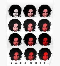 Jack White - Red Pattern Poster