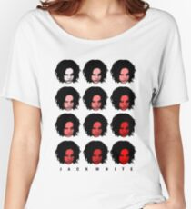 Jack White - Red Pattern Women's Relaxed Fit T-Shirt