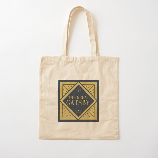 The Great Gatsby (vintage art deco) Cotton Tote Bag