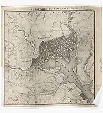 Vintage Map of Washington D.C. (1815) Poster