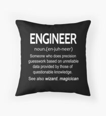 Engineer Noun T-shirts Throw Pillow
