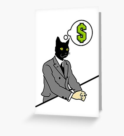 Cat Man VRS2 Greeting Card