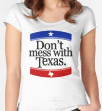 Don't Mess With Texas T-Shirt Women's Fitted Scoop T-Shirt