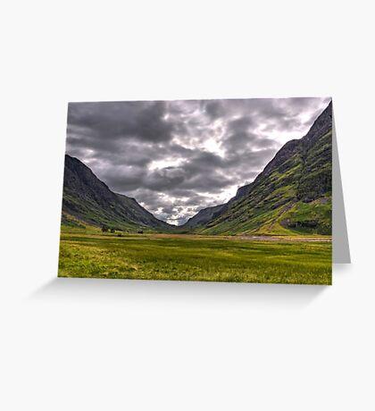 Glen Coe Greeting Card