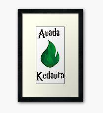 Avada Kedavra Framed Print