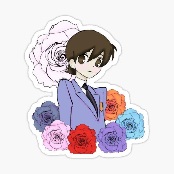 kawaii Host Club Rose Silhouette Sticker Set anime senpai journal stickers | journal ohshc stationary