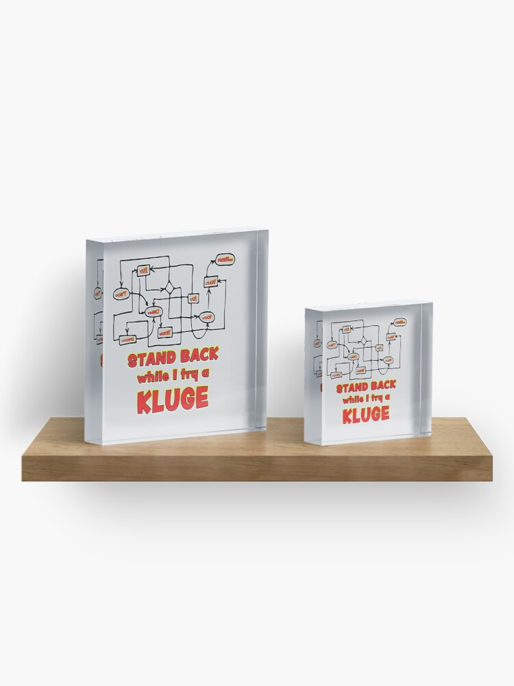 Alternate view of Try a Kluge. Acrylic Block