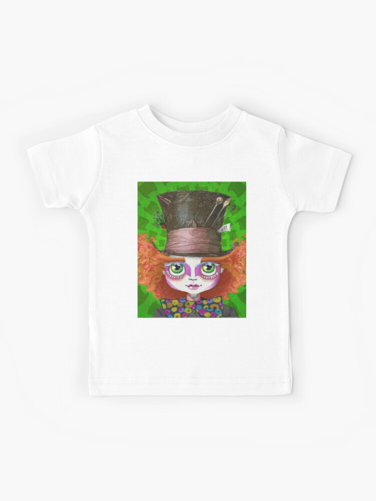 Johnny Depp As Mad Hatter In Tim Burton S Alice In Wonderland Kids T Shirt By Studiodeshan Redbubble