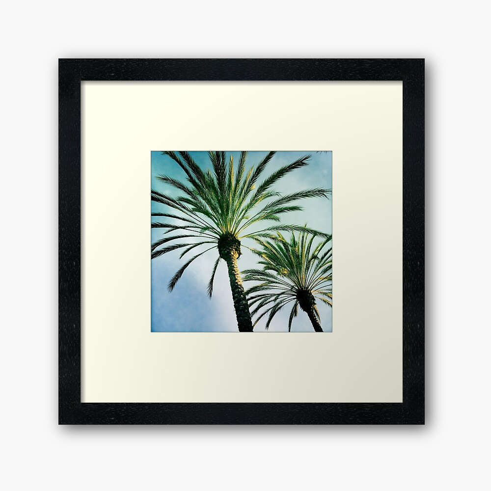 Two Palms Framed Art Print