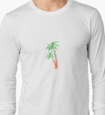 Palm Tree in Lilly Pulitzer Print Long Sleeve T-Shirt