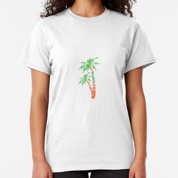 Palm Tree in Lilly Pulitzer Print Classic T-Shirt