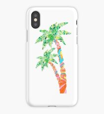 Palm Tree in Lilly Pulitzer Print iPhone Case/Skin