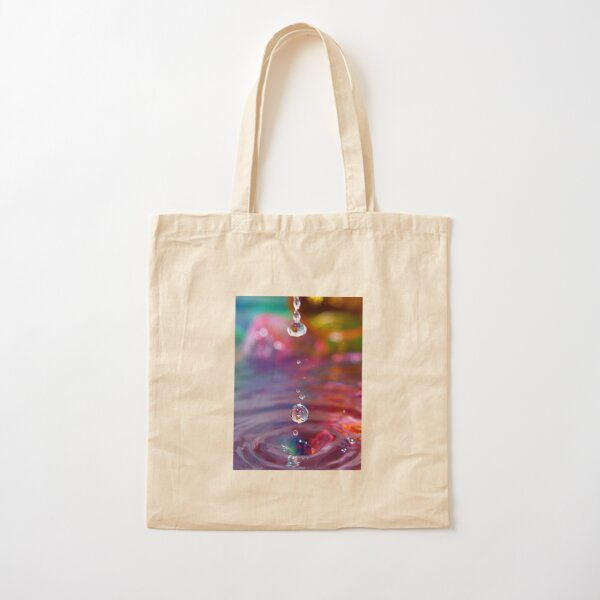 Water drops Cotton Tote Bag