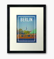 BERLIN FRAME Framed Print