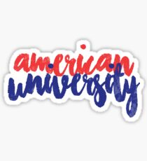 American University 3 Sticker