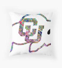 CU Boulder Logo– White Trip Throw Pillow