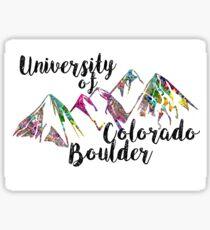 CU Boulder Flatirons Sticker
