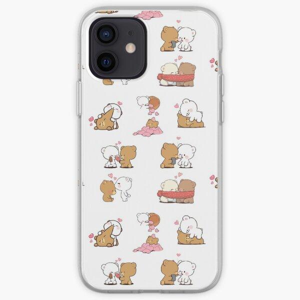 mochi peach cat sticker pack iPhone Soft Case