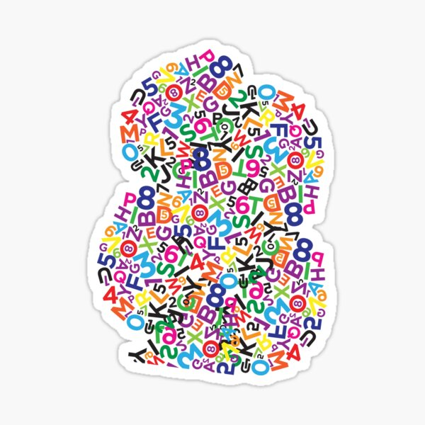 Letters and numbers Sticker