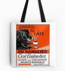 Antique Belgian Coffee Boar Advertising Poster Tote Bag
