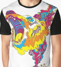 Psychedelic acid bear roar Graphic T-Shirt
