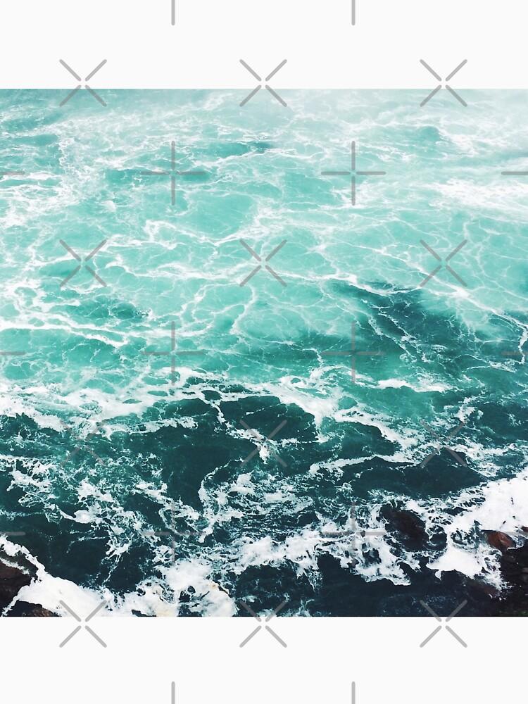 Blue Ocean Summer Beach Waves by AlexandraStr