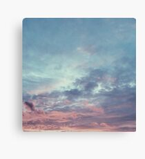 Pink Purple and Blue Summer Sunset Canvas Print
