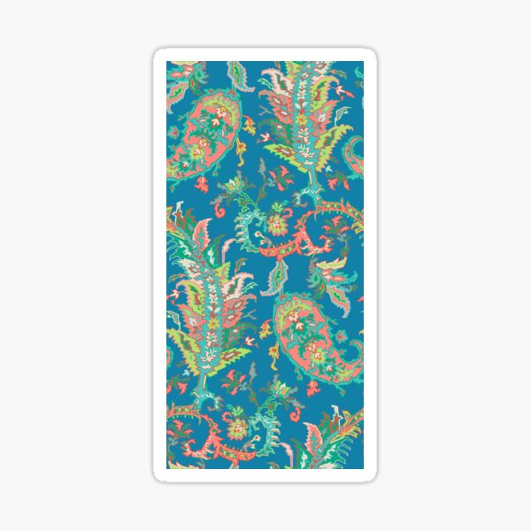 Tree of Life Paisley Teal Sticker