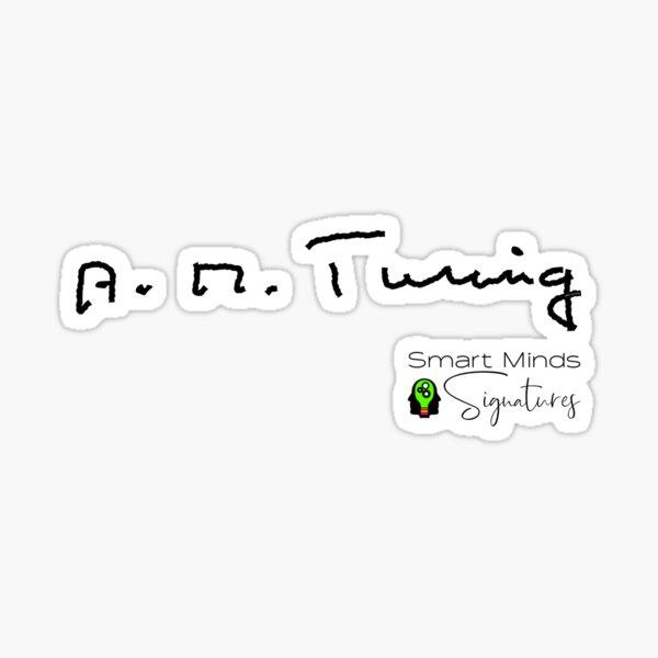 Signatures Series A.M. Turing Sticker