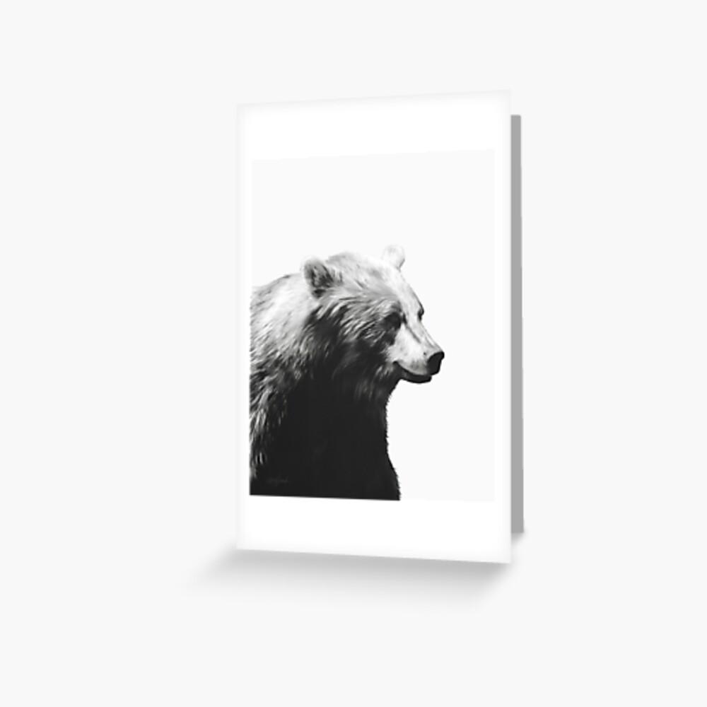 Bear // Calm Sketch Greeting Card