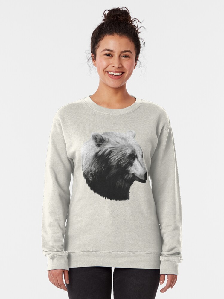 Alternate view of Bear // Calm Sketch Pullover Sweatshirt