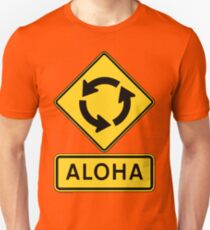 Aloha Circle Sign Design T-Shirt