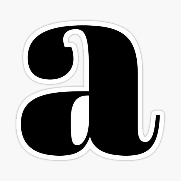 """""""A"""" initial Sticker"""