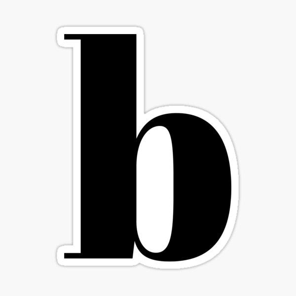 """""""B"""" initial Sticker"""