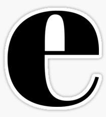 """E"" initial Sticker"