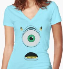 Mike Wazowski Women's Fitted V-Neck T-Shirt