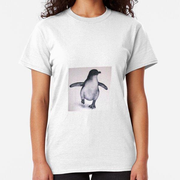 Damen Kurzarm Girlie T-Shirt Pinguine Pinguin penguin Wasservogel