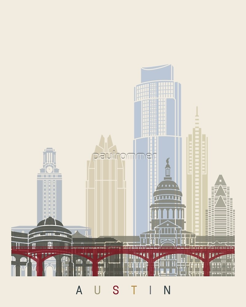 Austin skyline poster by paulrommer