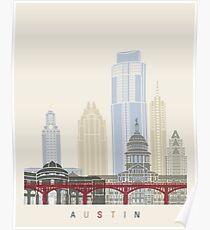 Austin skyline poster Poster