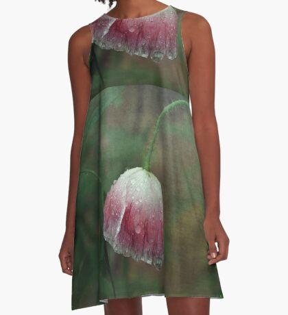 Soggy Poppy A-Line Dress