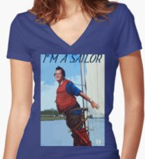 Im A Sailor Bob Quote Women's Fitted V-Neck T-Shirt