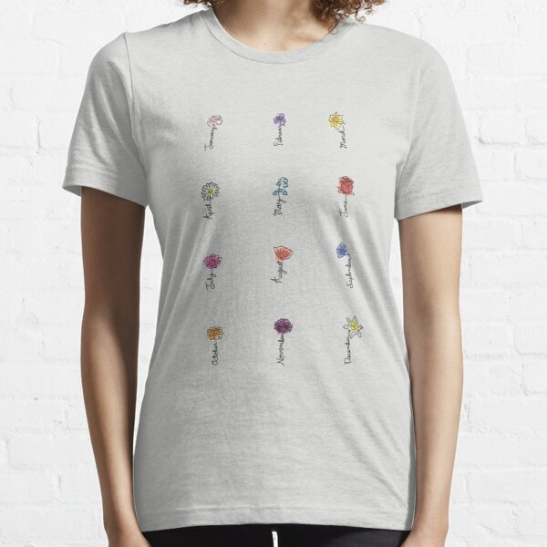 Birth Month Flowers Essential T-Shirt