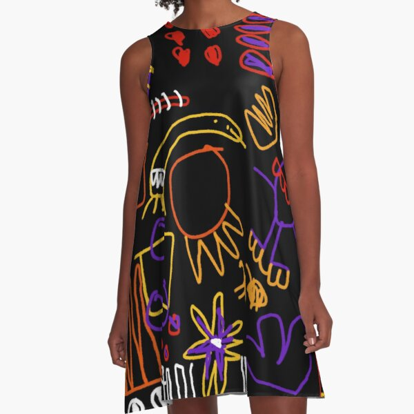 Doodling in the Sun A-Line Dress