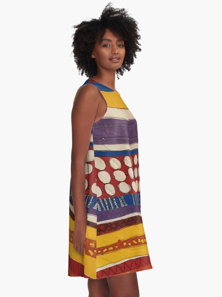 Alternate view of Dotty Dots A-Line Dress