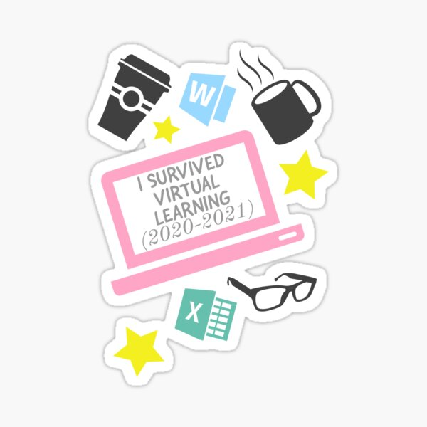 I survived virtual learning Sticker