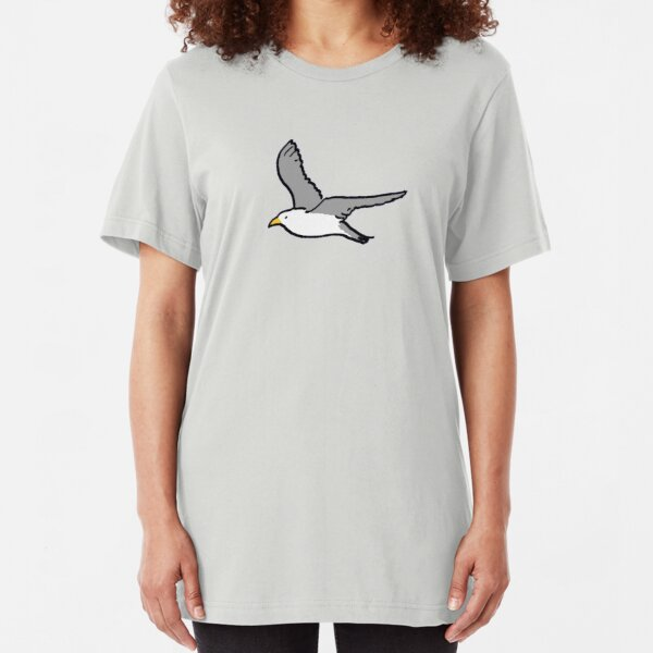 Bird flying high in the sky Slim Fit T-Shirt