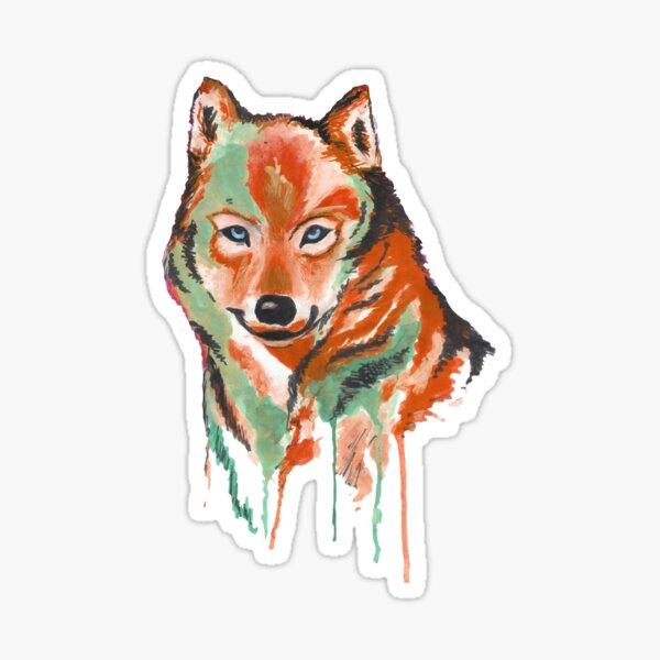 Watercolour Wolf Sticker