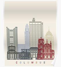 Columbus Skyline Poster Poster