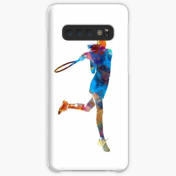 Woman tennis player 03 in watercolor Samsung Galaxy Snap Case
