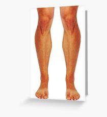 Muscular male legs Greeting Card